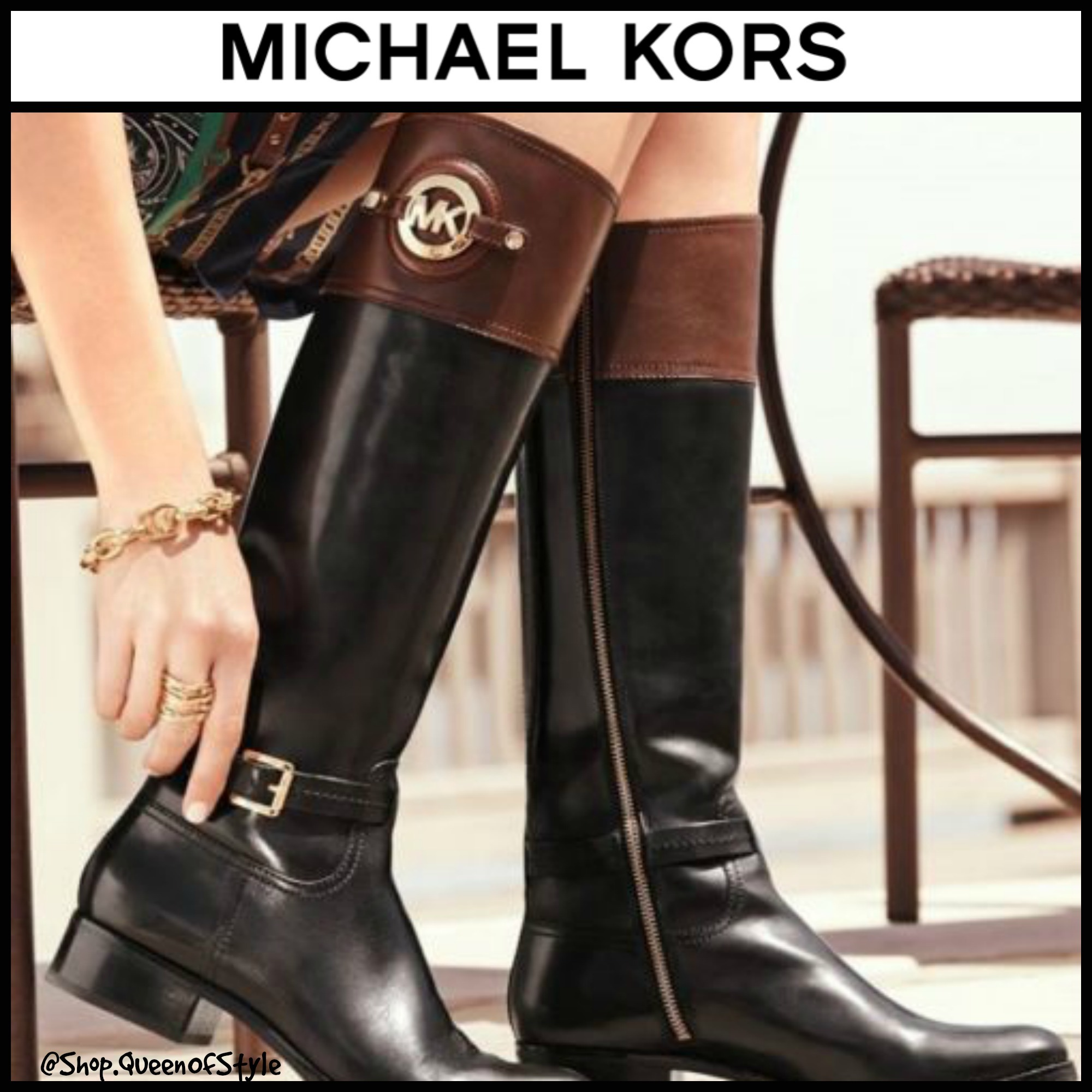 MICHAEL Michael Kors Stockard Leather Riding Boot | Shoooe