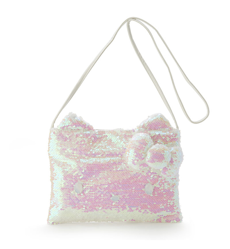 Hello kitty's Sequins shoulder bag white