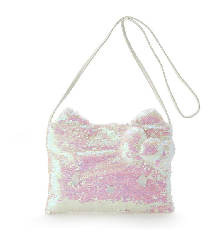 SANRIO Hello kitty's Sequins shoulder bag white