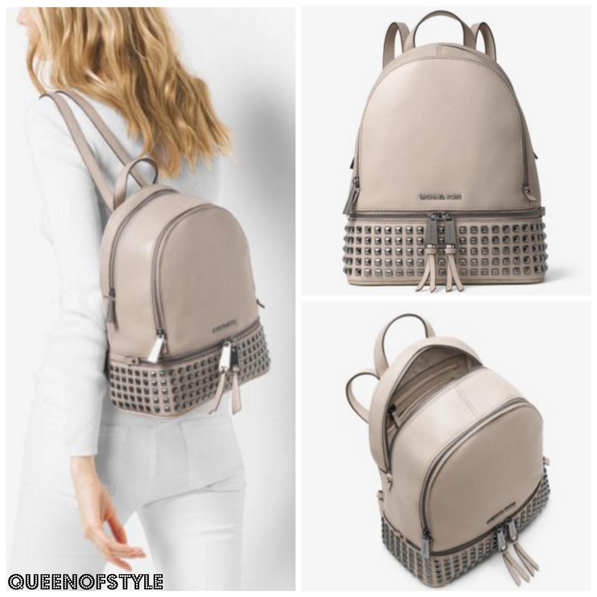 cad0048a81a8 michael kors rhea medium studded backpack black flats size 11 ...