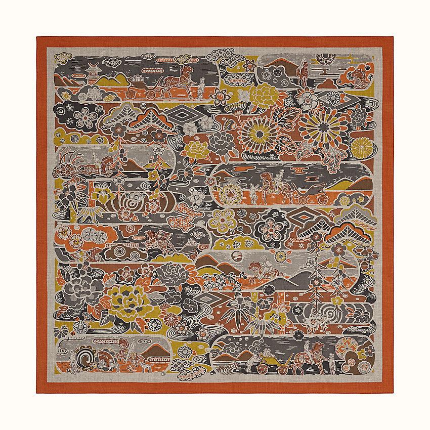 HERMES Bingata shawl 140