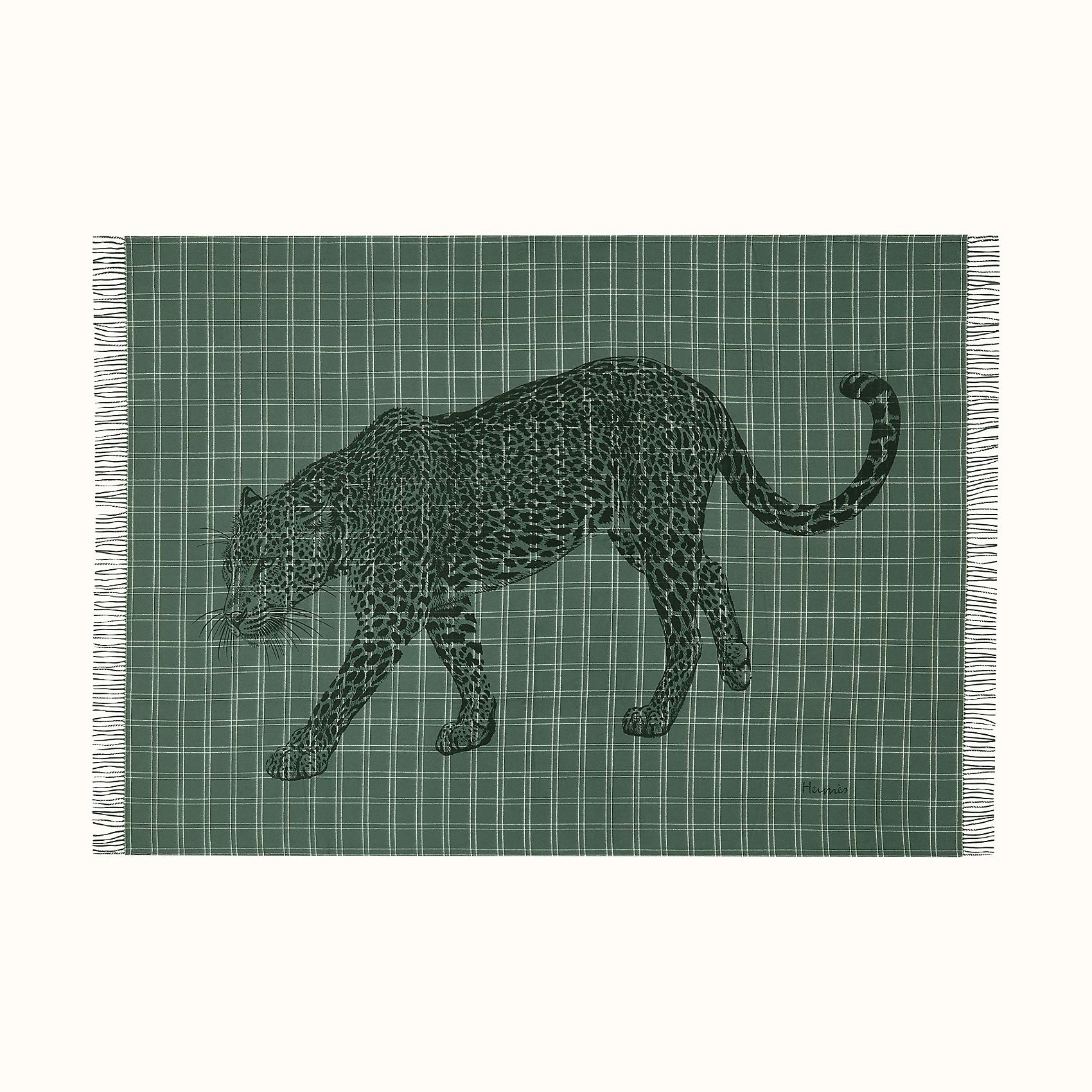 HERMES Leosquare blanket - Vert Sapin