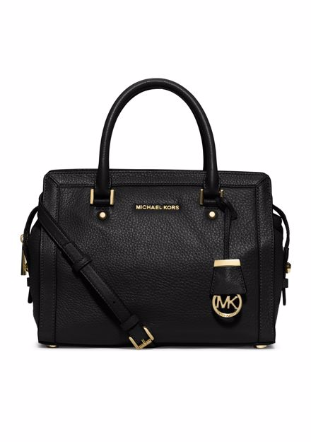 Michael Kors Collins Medium Black Satchel