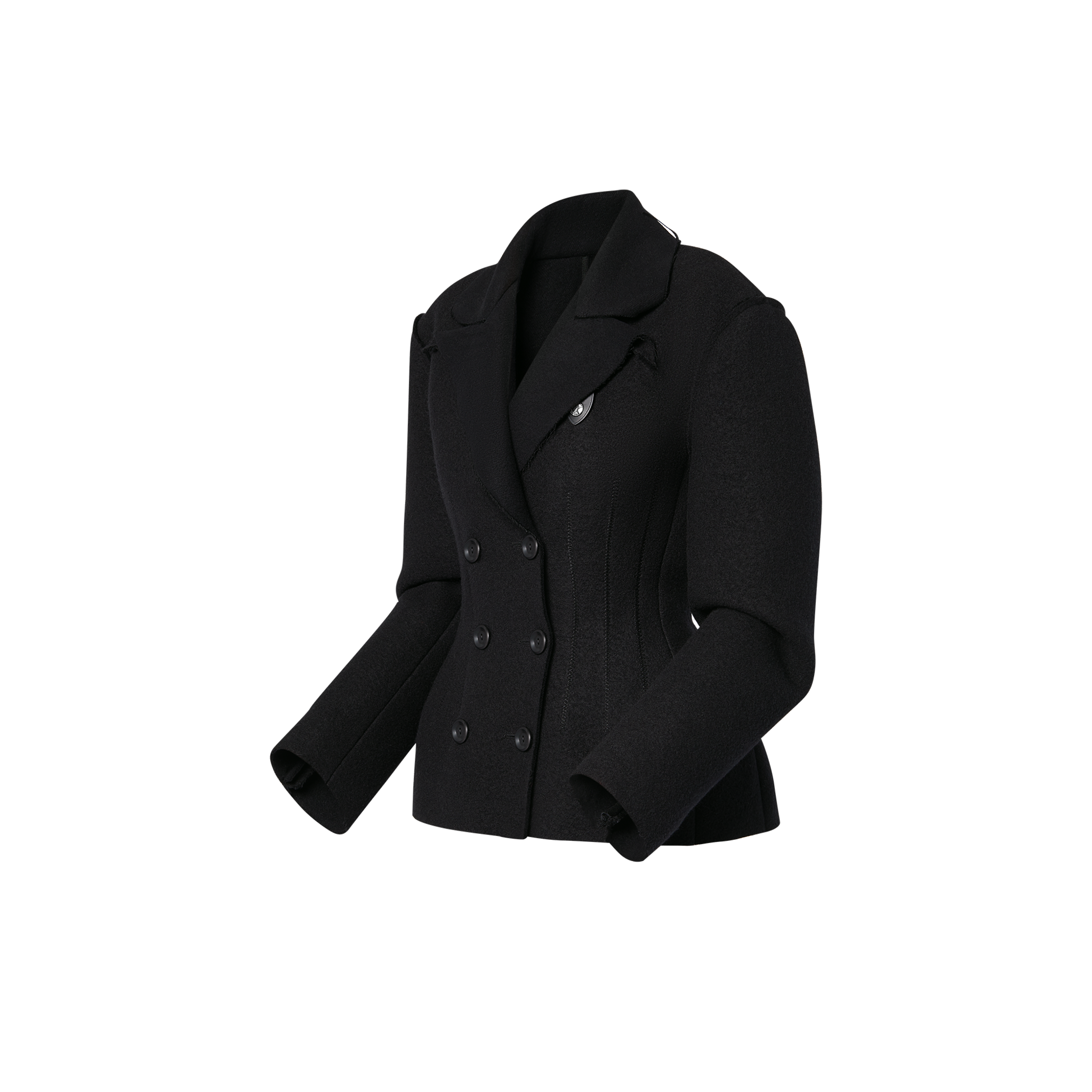 Louis Vuitton Louis Vuitton JACKET WITH RAW CUT EDGES AND PLEATS