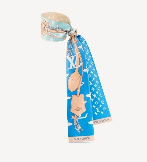 Louis Vuitton MONOGRAM Scarf band Monogram Gradient blue