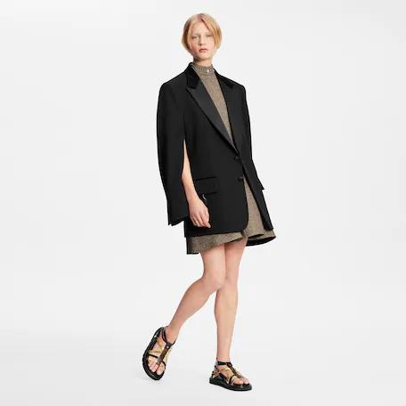 Louis Vuitton Slit sleeves tuxedo jacket