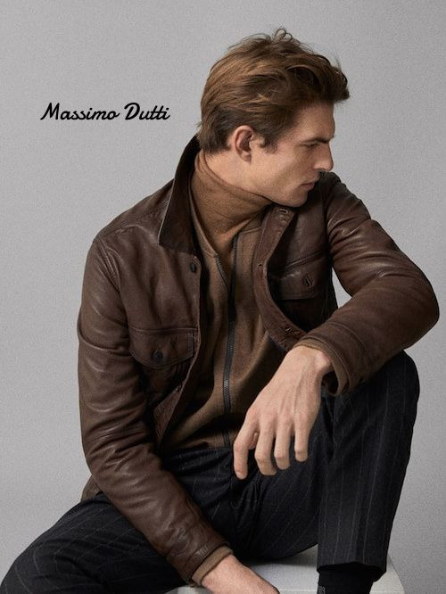 bf2fa54932c Massimo Dutti Brown Nappa Bomber style jacket by Stylist - BUYMA