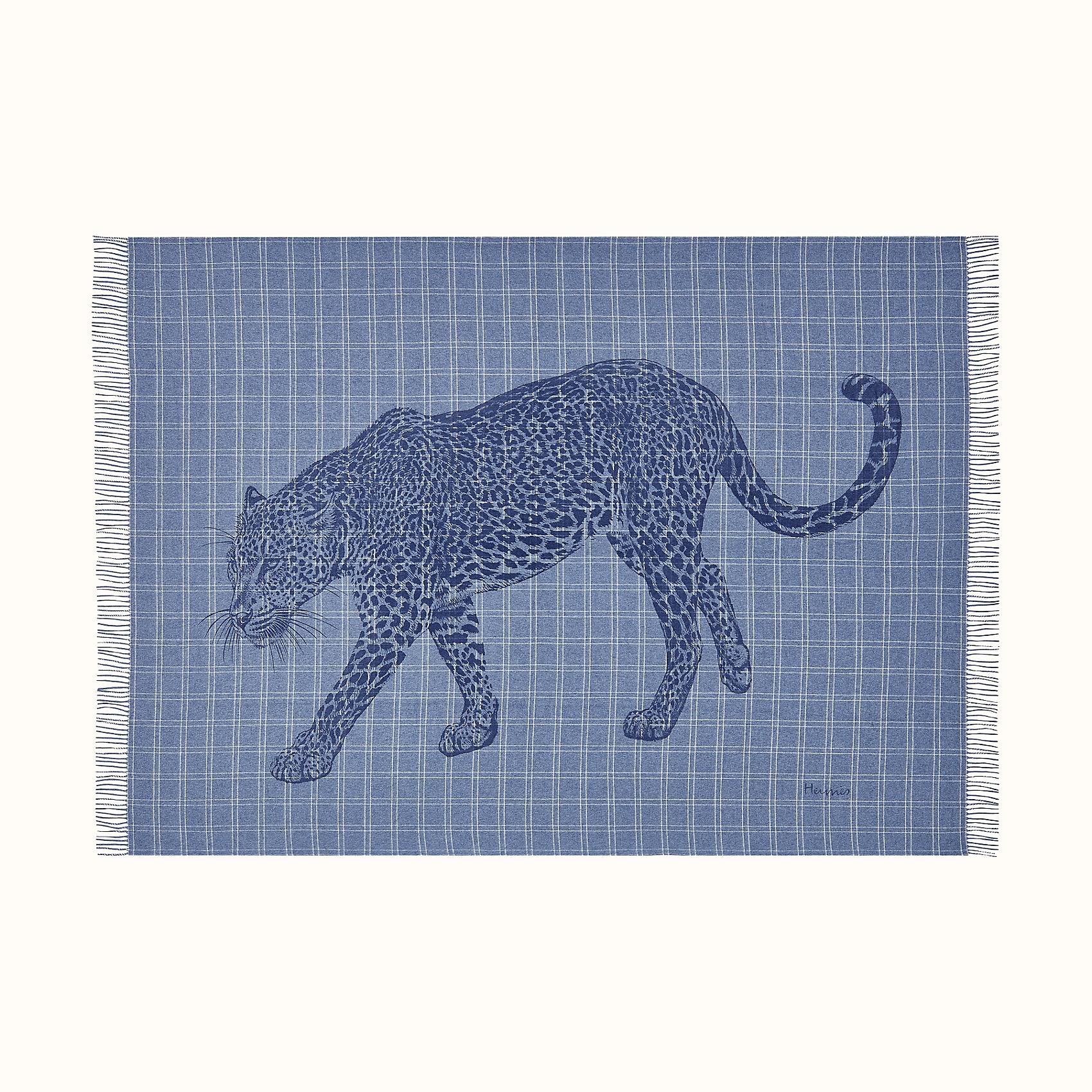 HERMES Leosquare blanket - Marine