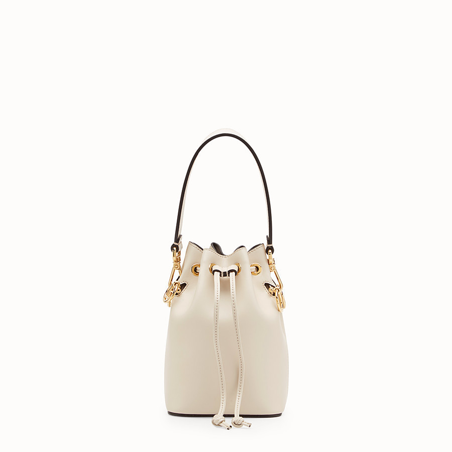 FENDI 【FENDI】MON TRESOR White leather mini-bag