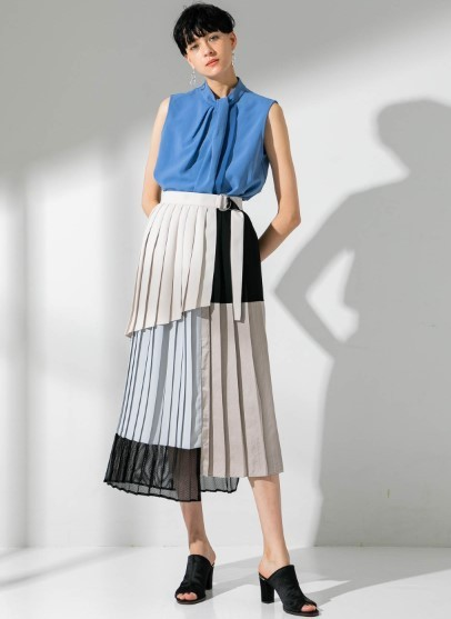 NUANCE BLOCKING SKIRT