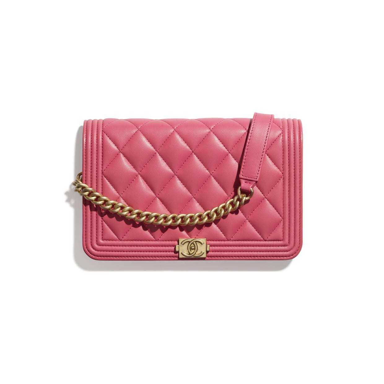 CHANEL CHANEL ☆boy chanel wallet on chain ☆AP1117 Y07659 N9310