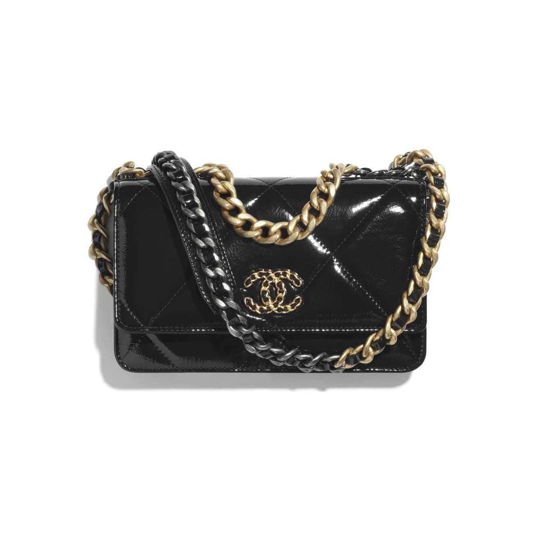 CHANEL CHANEL ☆chanel 19 wallet on chain ☆AP0957 B04580 94305