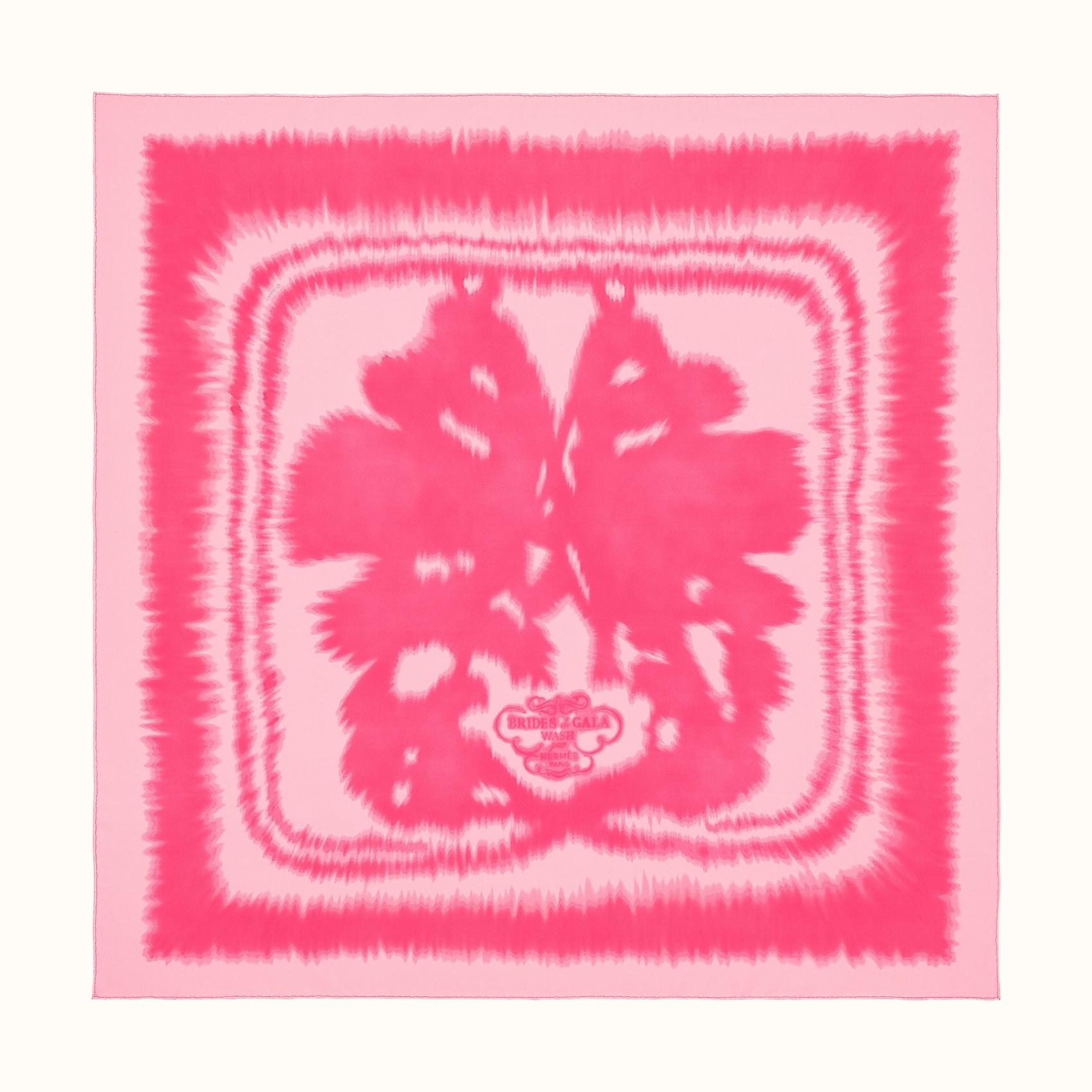 HERMES Brides de Gala wash scarf 90 - Rose Malabar/Rose Vif