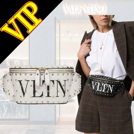 ◆◆VIP◆◆ VALENTINO rock studs spikes leather waist pouch