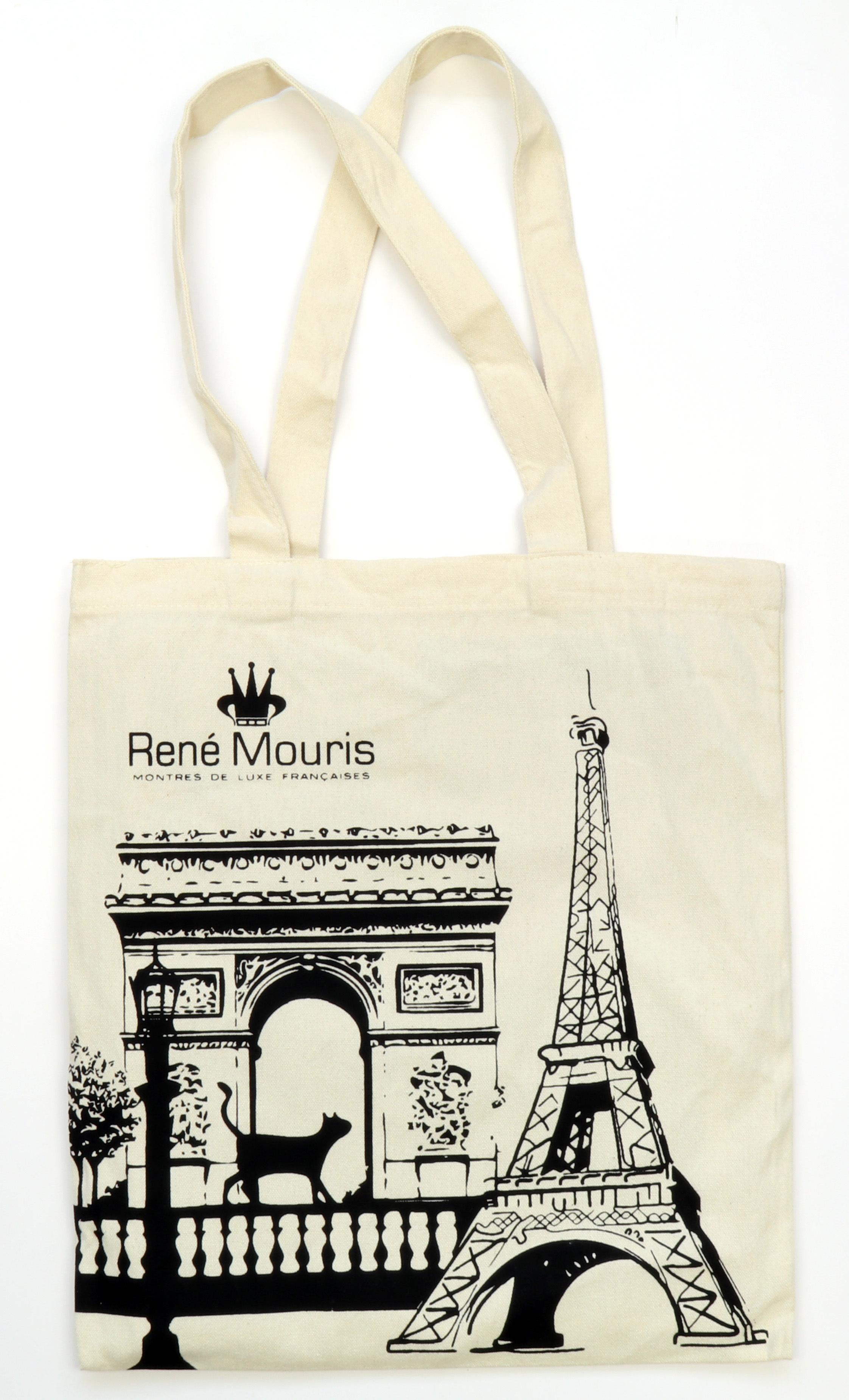 René Mouris Arc De Triomphe and Eiffel Tower Tote Bag