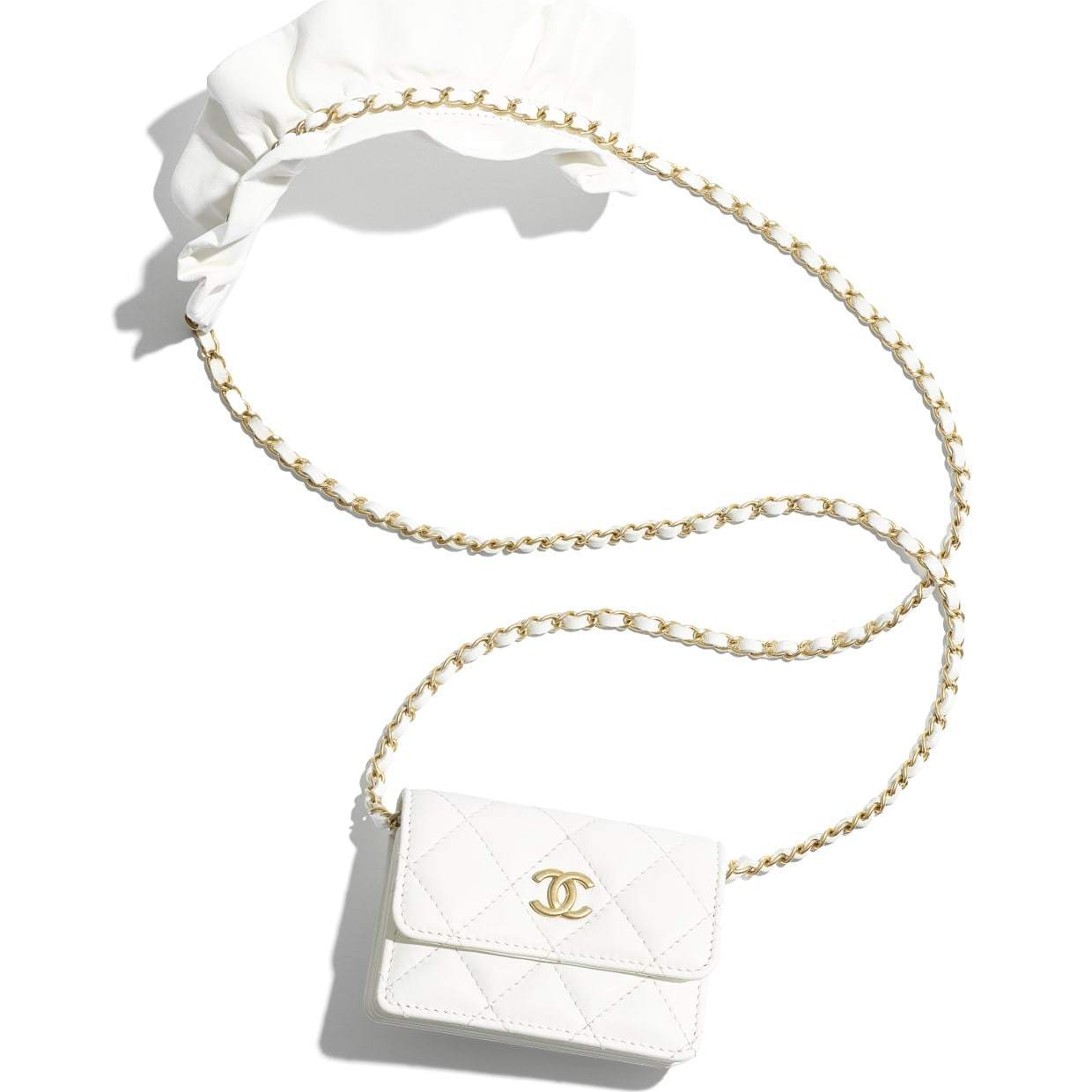 CHANEL CHANEL ☆flap card holder with chain ☆AP1895 B04369 10601