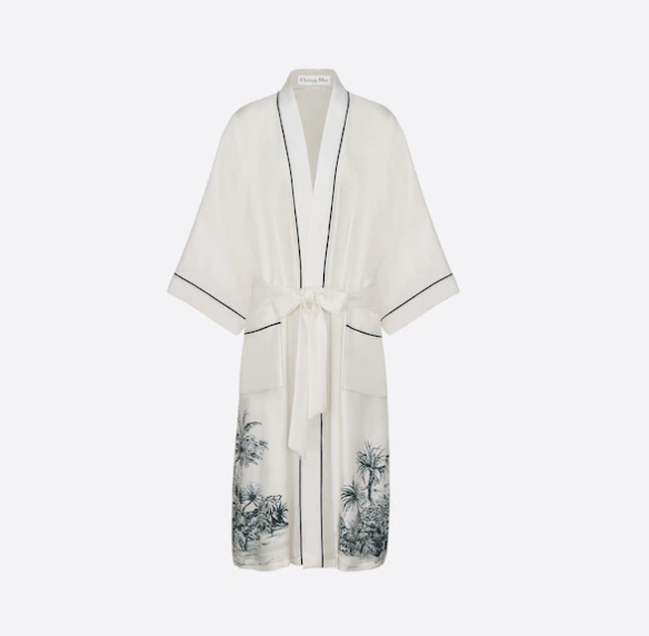 Christian Dior long sleeves kimono Pyjama Dior chez moi