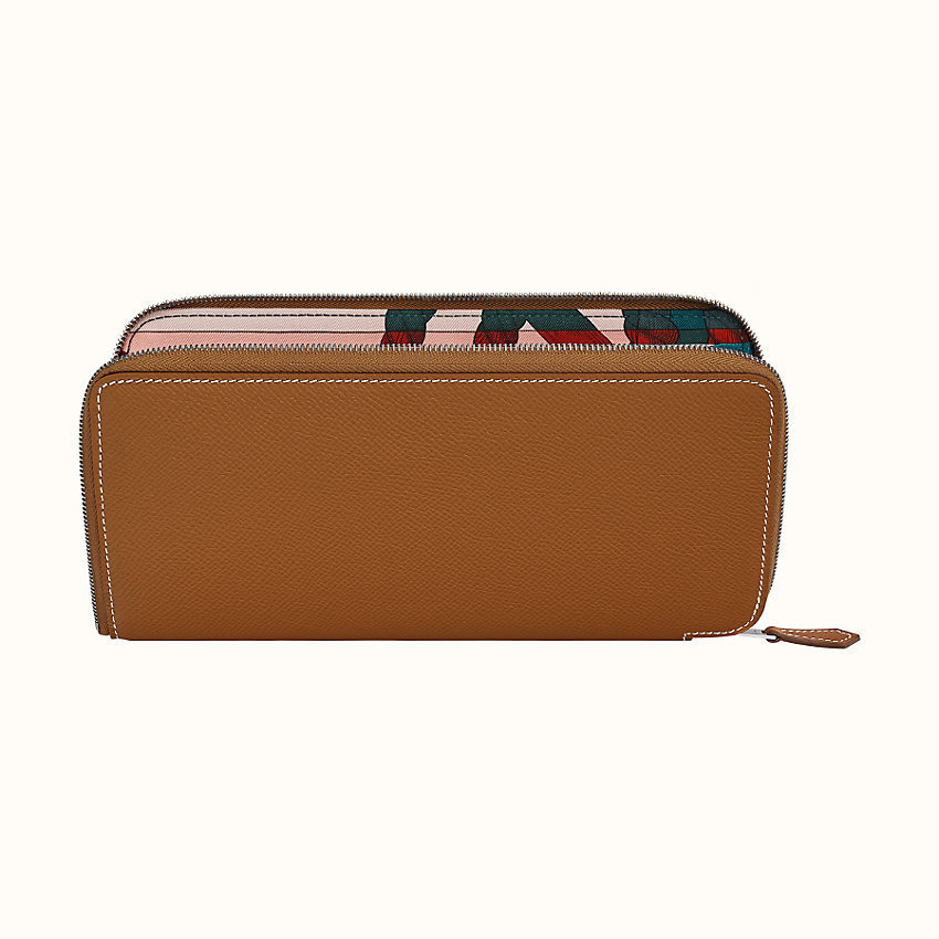 HERMES Silk'in classic long wallet