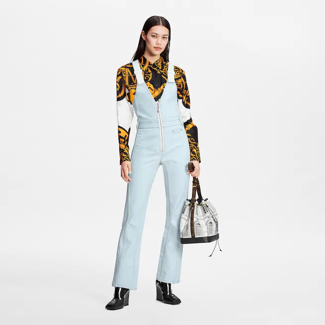 Louis Vuitton Structured washed denim overalls