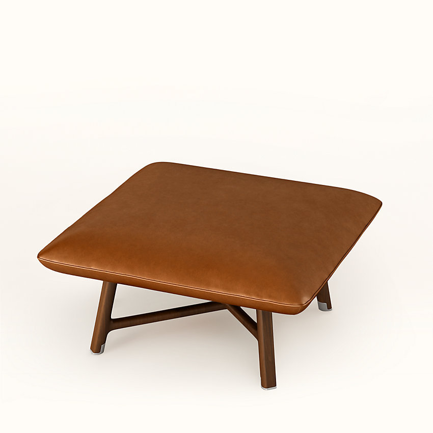 """HERMES Les Necessaires d'Hermes """"carre d'assise"""" low stool"""
