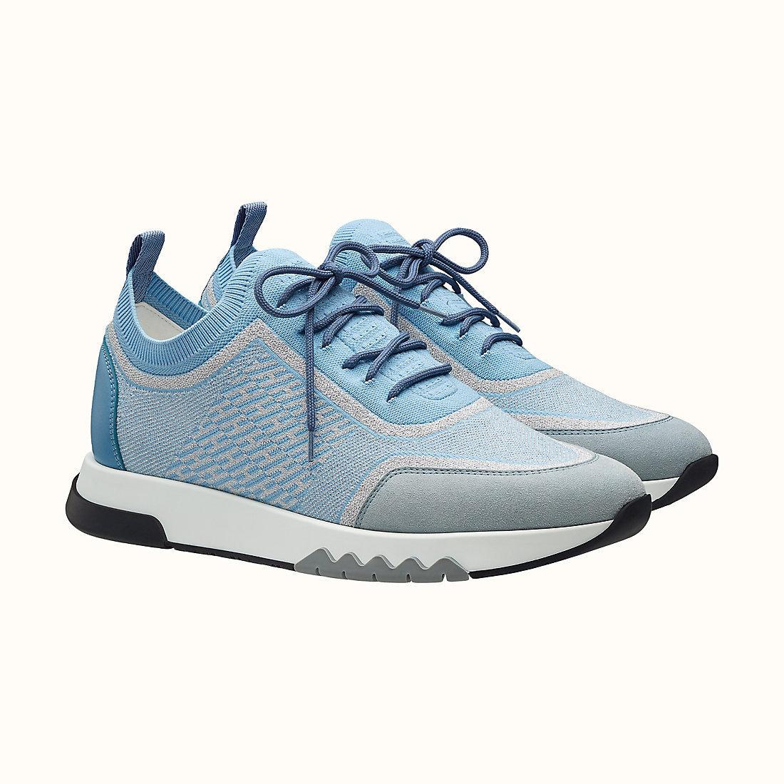 HERMES Addict sneaker Argent/Bleu Faïence