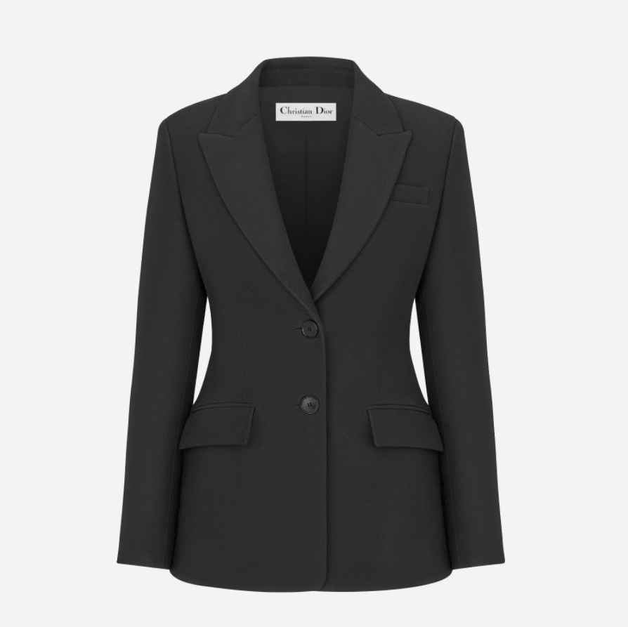 Christian Dior JACKET Black Wool and Silk 051V35A1166_X9000