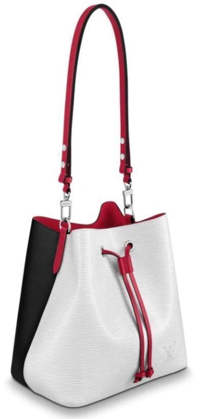 Louis Vuitton NÉONOÉ MM(Blanc Optique White / Back / Scarlet Red)