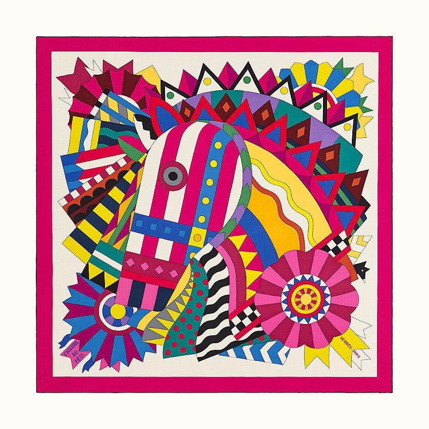 HERMES Cheval de fete shawl 140