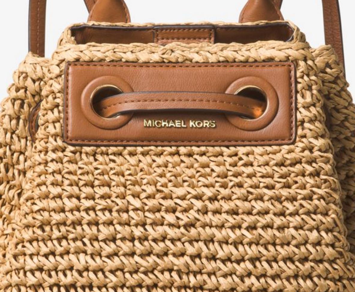 a90b417cab1c michael kors krissy large straw backpack jet set travel tote black ...
