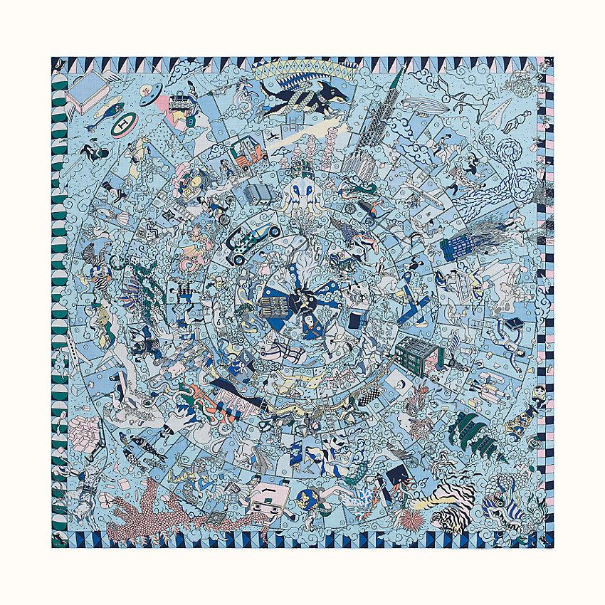 HERMES L'epopee d'hermes shawl 140