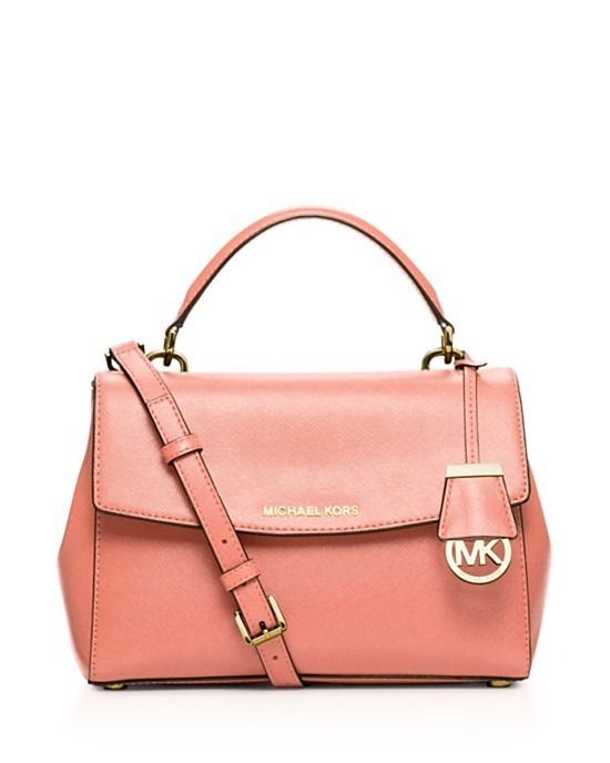 Michael Kors Ava Small Top Handle Peach Satchel