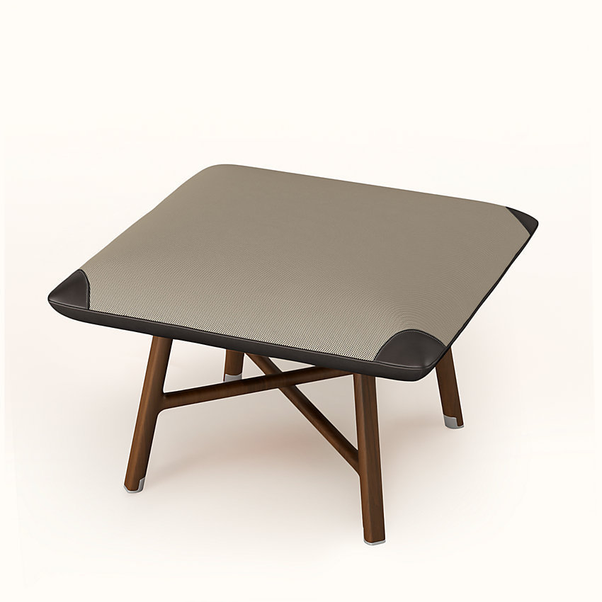 "HERMES Les Necessaires d'Hermes""carre d'assise""low stool,high model"