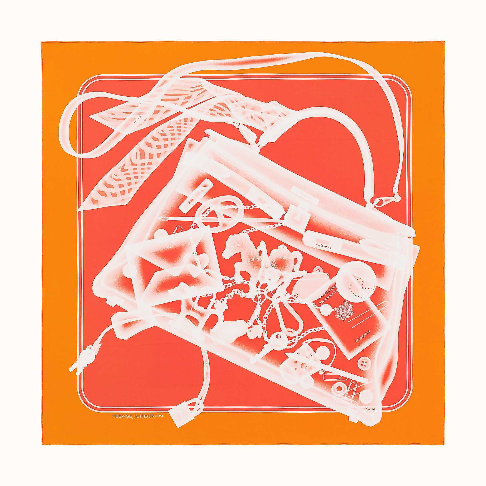 HERMES Please, Check-In Scarf 90