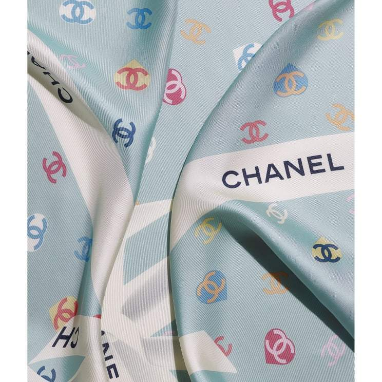 CHANEL ☆square scarf ☆AA7446 B05145 NB733