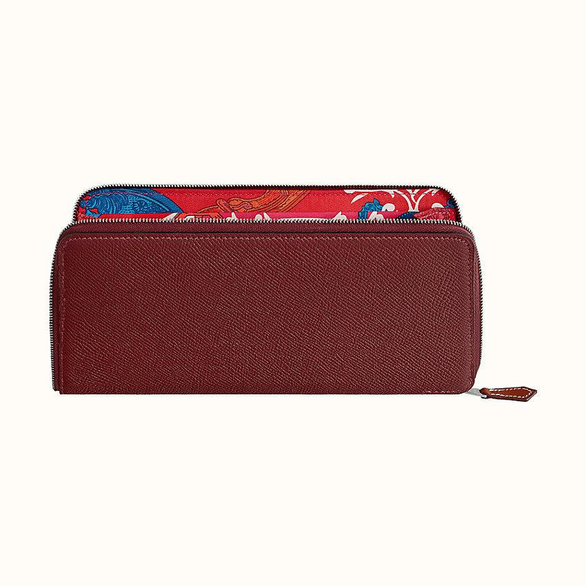HERMES Silk'in classique long wallet