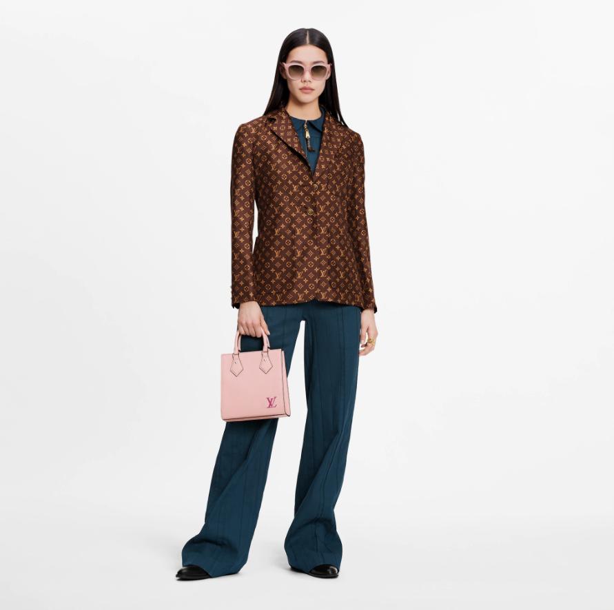 Louis Vuitton Louis Vuitton MONOGRAM SILK TWILL BLAZER