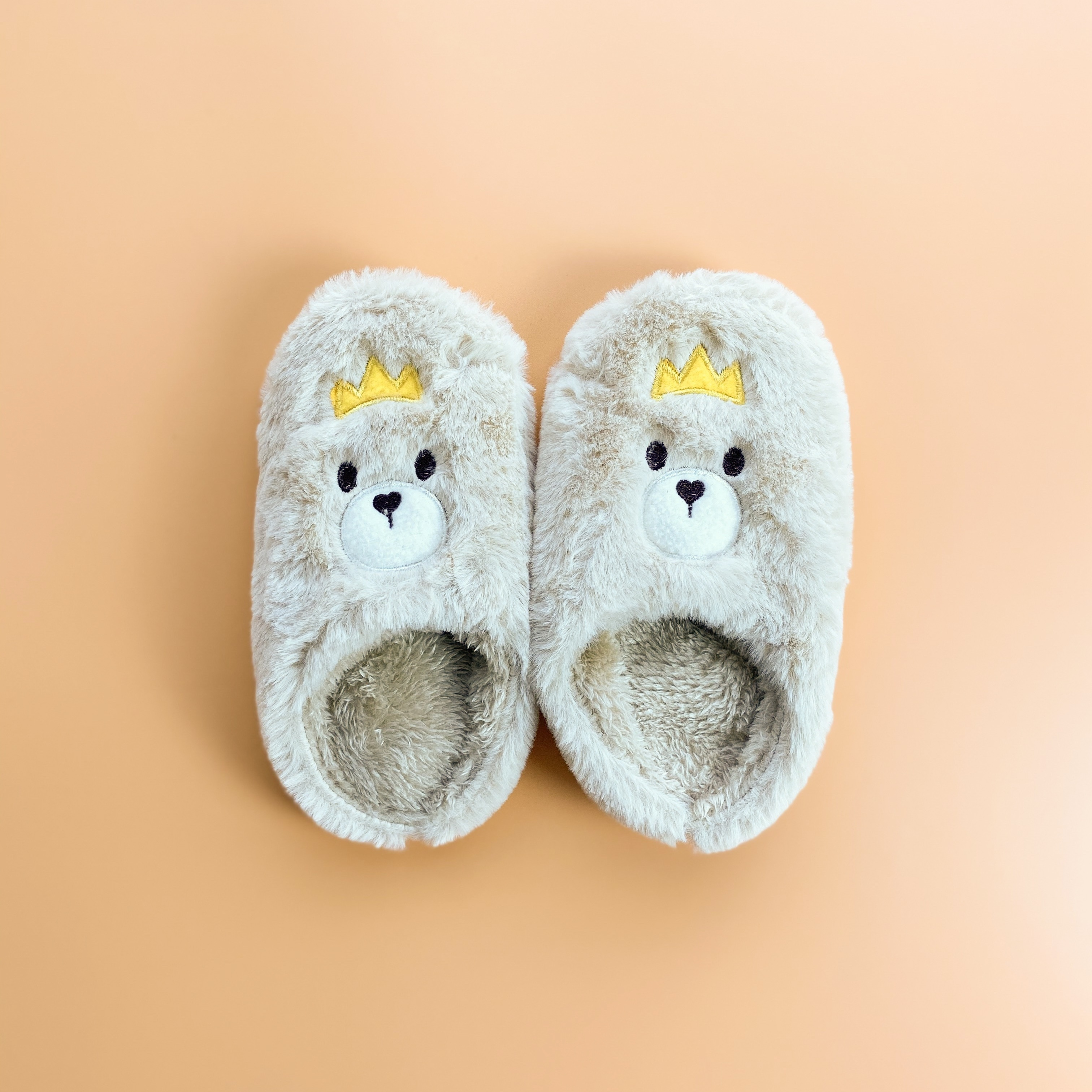 【KIDS】fluffy animal room shoes