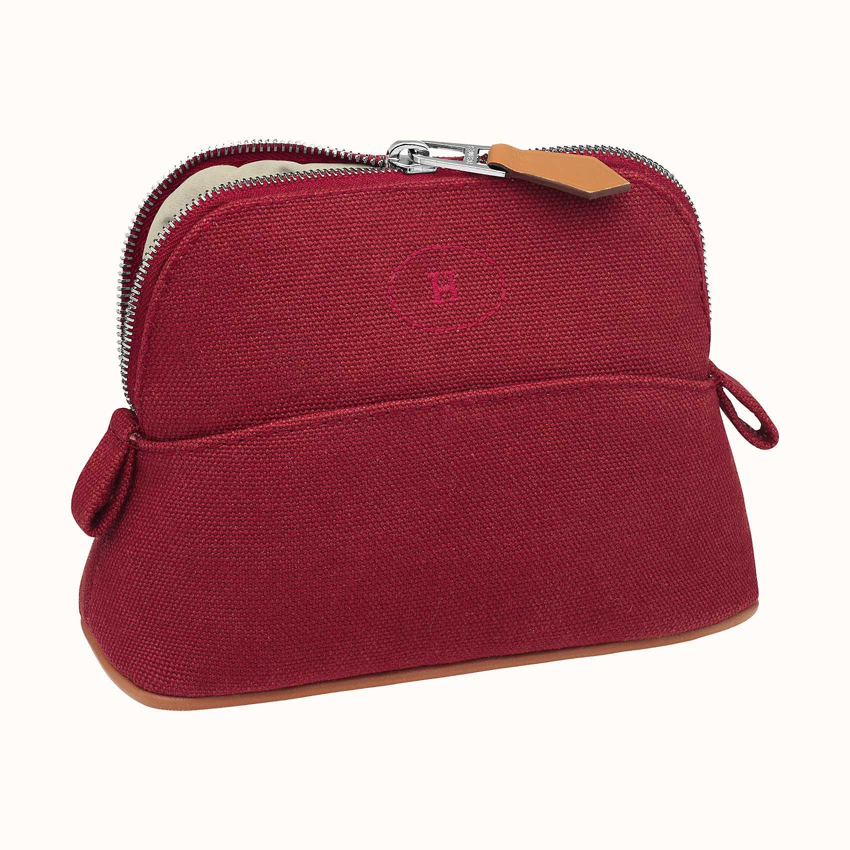 HERMES Bolide travel case, mini model - Rouge H