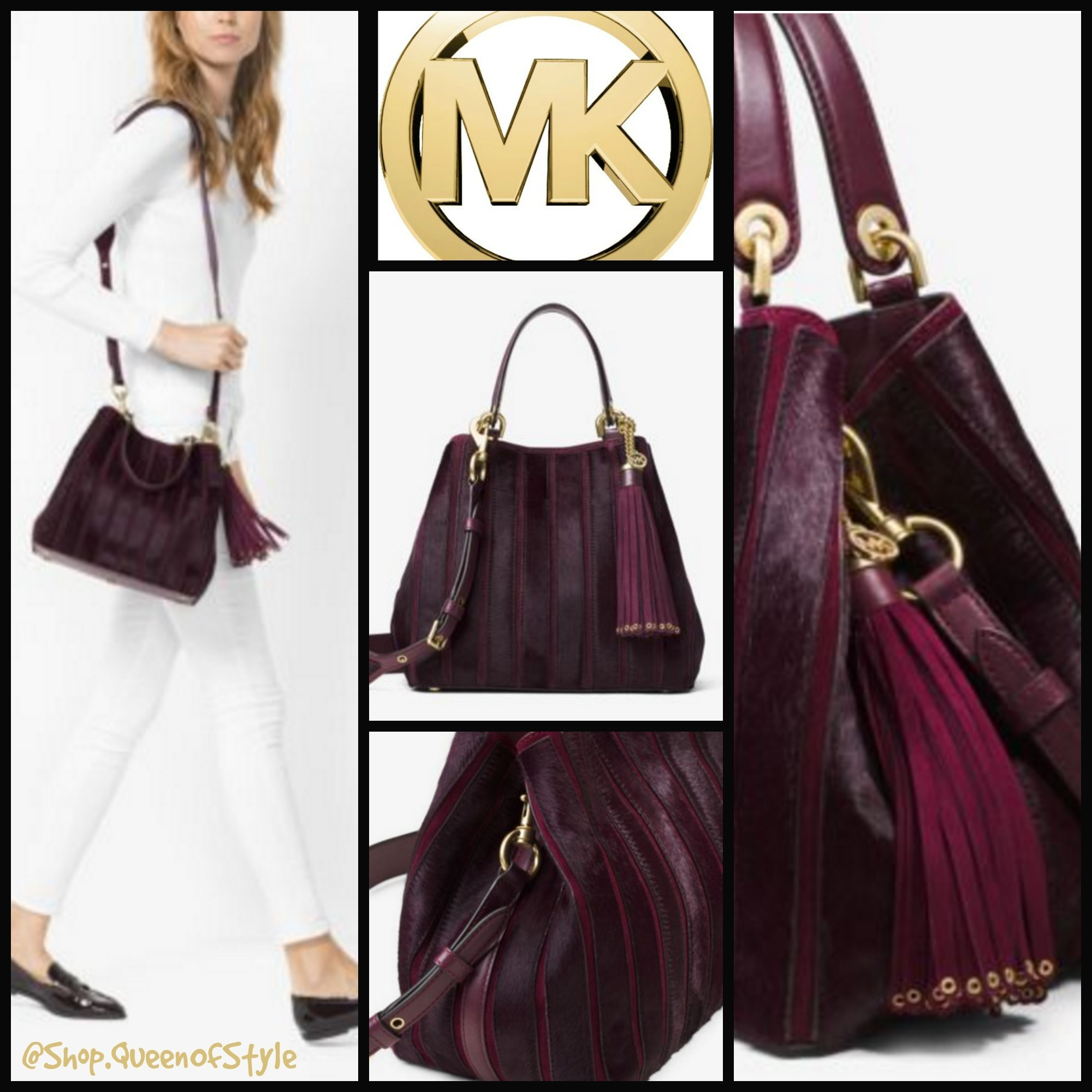 78ea6787f1eb ... switzerland michael kors mk michael kors brooklyn medium appliqué suede  shoulder bag by queenofstyle buyma 065ee