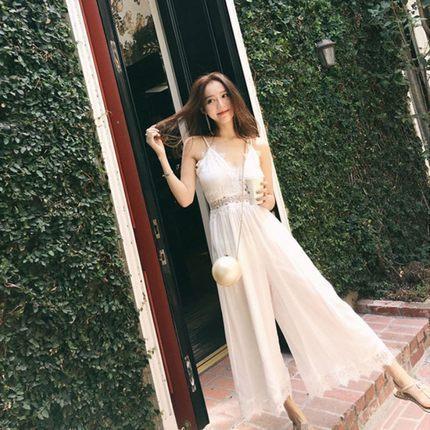 2018 NEW Time Sale  Lace Cami White S/M/L Long Jumpsuit