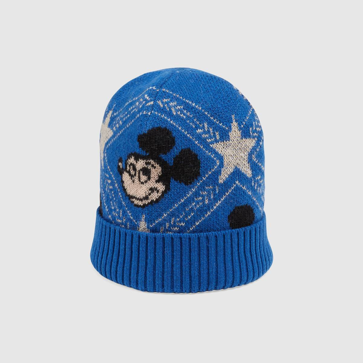 GUCCI Gucci x Disney Jacquard-knit Beanie Hat in Blue