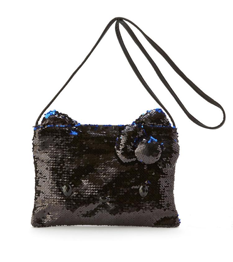 SANRIO Hello kitty's Sequins shoulder bag black