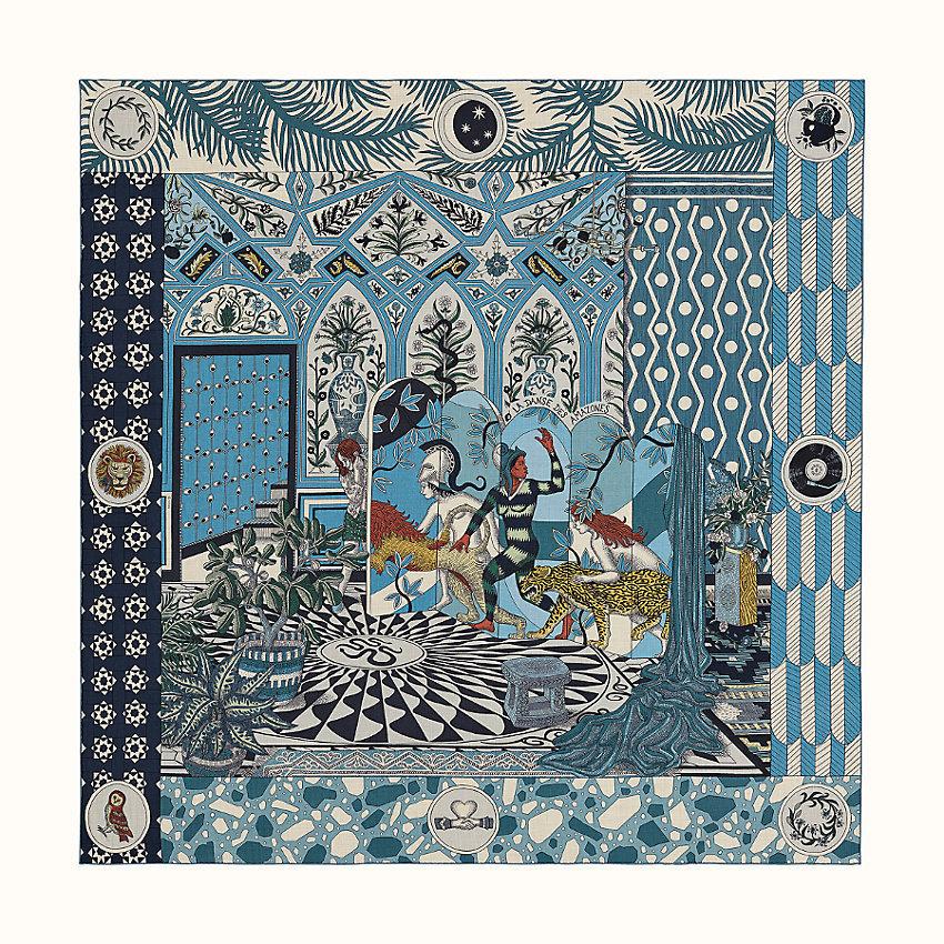 HERMES La Danse des Amazones shawl 140
