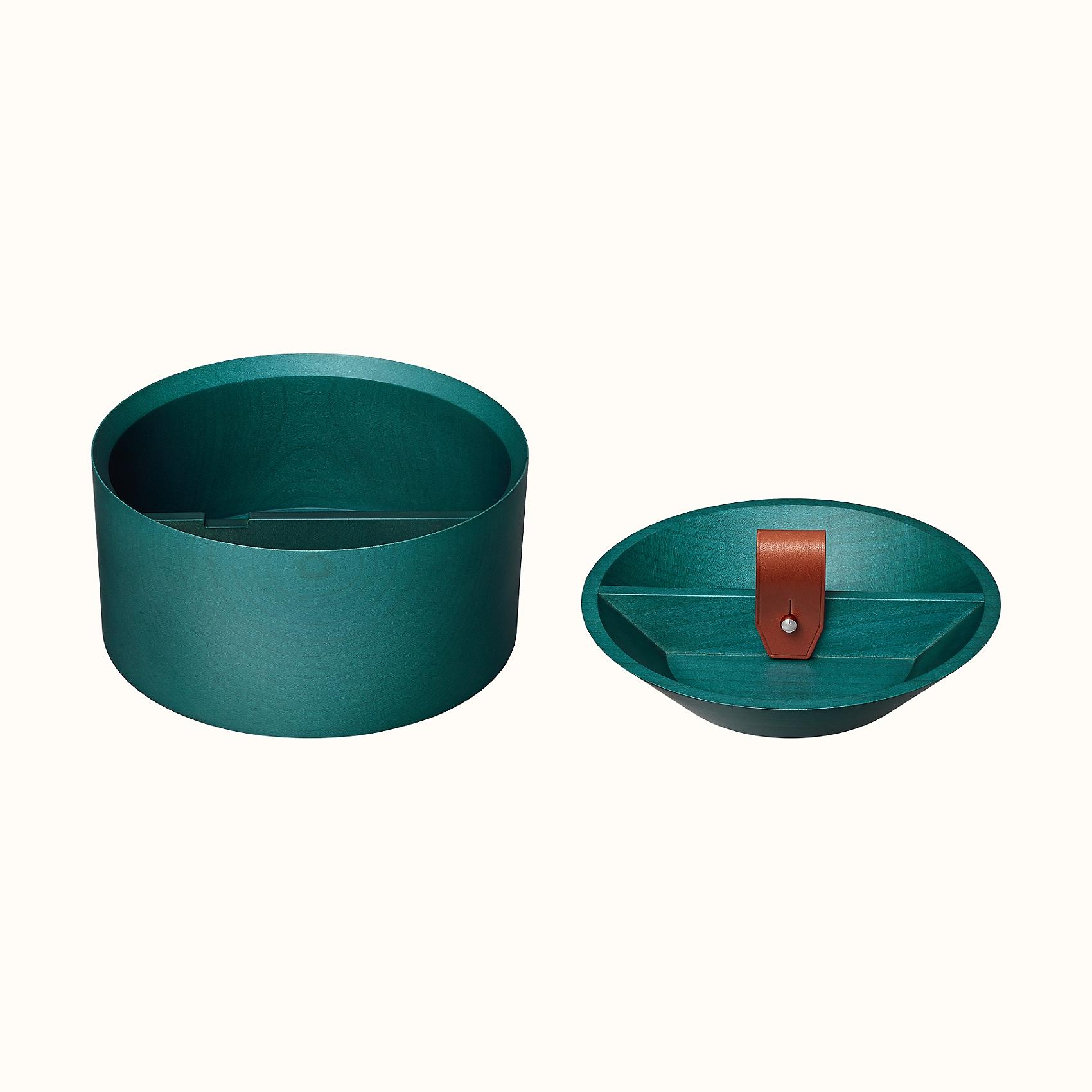 HERMES Tibi round box - Bleu Indigo