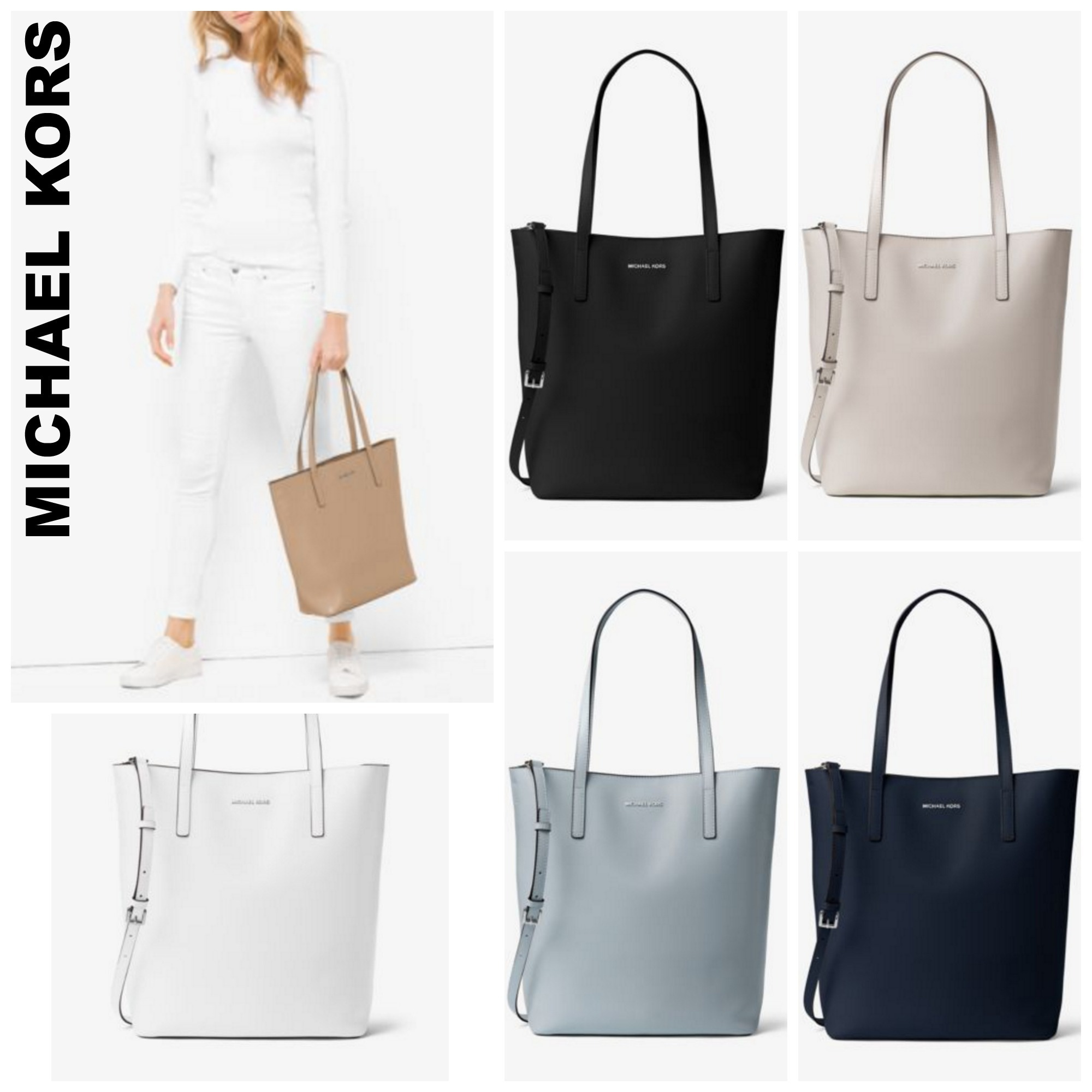 d4f26bef7fd0b Michael Kors MICHAEL MICHAEL KORS Emry Large Leather Tote Bag by  QueenOfStyle - BUYMA