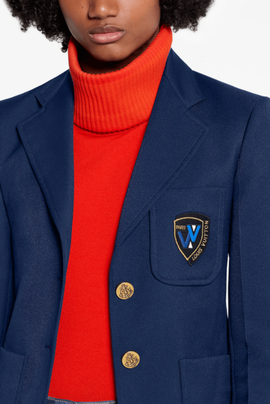 Louis Vuitton Louis Vuitton BLAZER JACKET WITH EMBROIDERED PATCH
