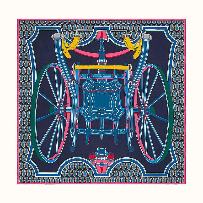 HERMES Les roues de phaeton shawl 140