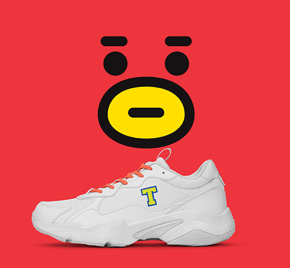 Bt21 x Reebok Turbo Impulse Clean Sneakers Tata