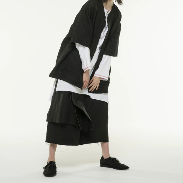 Yohji Yamamoto 【S'YTE】Rayon Linen Easy Cross One Tack 6-quarter Wrap Pants