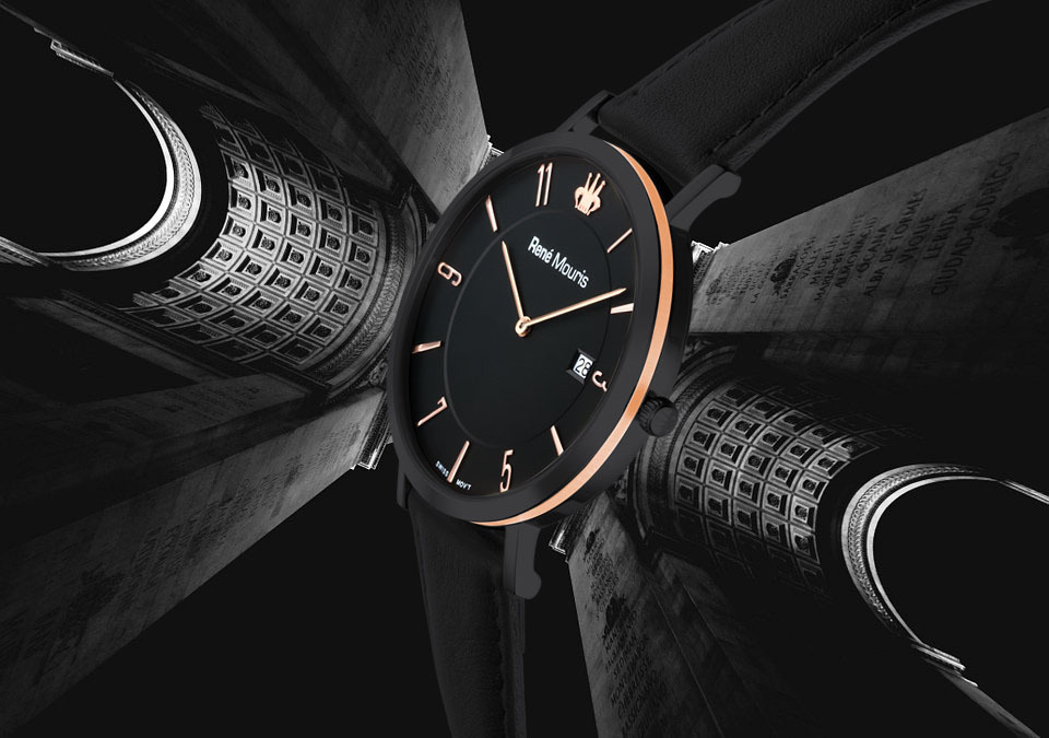 Rene Mouris - L'Emporter Collection Classic Watch - Black